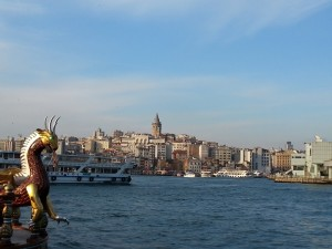 Istanbul. Il corno d'oro con la torre Galata sullo sfondo. Foto di Giusi Andolina