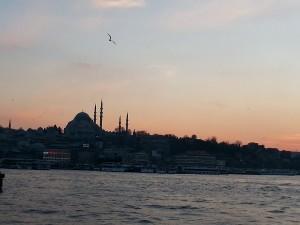 Tramonto invernale a Istanbul. Foto di Giusi Andolina