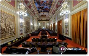 Sala d'Ercole a Palazzo dei Normanni a Palermo, sede dell'ARS