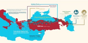 Energia Turchia mappa