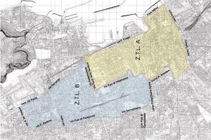 Mappa ZTL programmate a Palermo. La zona è molto vasta, senza fermate delle lprime tre linee tram. Non è facile procurarsi una mappa che non appare né nel sito del Comune né in quello dell'AMAT (ente gestore). Le uniche mappe disponibile sono quelle pubblicate dai maggiori quotidiani locali