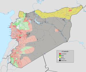 Situazione in Siria nel novembre 2015. Immagine tratta da Wikipedia.