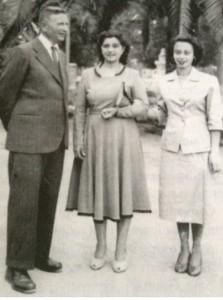 Salvatoe Hamel con la moglie Ida e la figlia Lina in una foto del 1950.