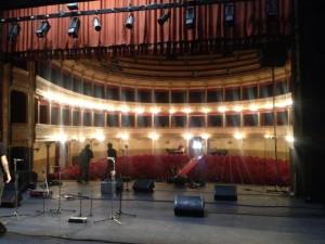 Teatro Biondo, vista la palcoscenico