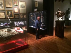 Pasquale Hamel, direttore del Museo della Storia Patria a Palermo, all'interno dello stesso museo.