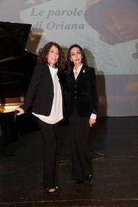 Le parole di Oriana_Maria Rosaria Omaggio e Cristiana Pegoraro- foto A.Mirimao