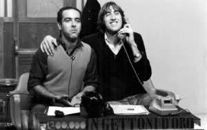 Marcello Mordino e Ferruccio in TV a nella Palermo anni '80. Foto tratta da Barberahttp://desamorcer.altervista.org/marcello-mordino-e-che-ci-volete-dire