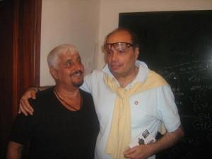 Pino Daniele e Salvo Pistoia a Zafferana Etnea nel 2013.
