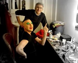 Ernesto Tomasini con il fotografo Angelo Macaluso