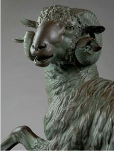 L'Ariete in bronzo conservato al museo archeologico Salinas