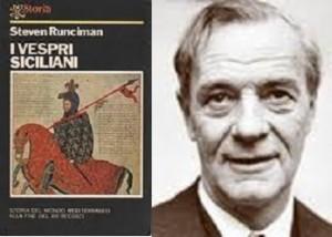 """Steven Runciman con il suo libro tradotto in italiano """"I Vespri Siciliani"""""""
