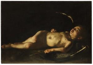 GALLERIE DEGLI UFFIZI. Caravaggio-Eros dormiente