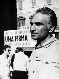 Marco Pannella ai tempi della battaglia, vinta sul referendum per il divorzio