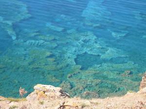 Un'immagine della riserva marina di Ustica