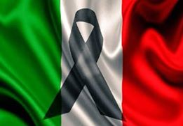Bandiera italiana a lutto