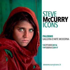 Locandina Mostra McCurry alla GAM Palermo
