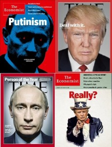 Putin e Trump in quattro famose copertine del Time e del The Economist
