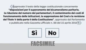Scheda Referendum Istituzionale FACSIMILE