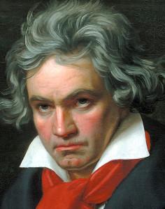 Stieler, Joseph Karl: Beethoven mit der Missa solemnis Ölgemälde, 1819