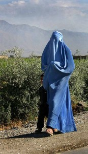 Donna con Burqa in Afghanistan