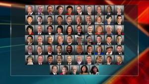 Una larga fetta di esponenti democratici al Congresso non ha partecipato alla cerimonia dell'Inaugurazione, contribuendo al flop di Trump