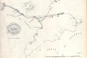 Mappa della ferrovia Napoli-Portici