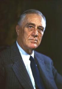 Anche da una ìinsalata può sempre nascere un discorso serio. Basta avere ispirazione. Qui Franklin Delano Roosevelt.