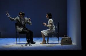 Paolo Briguglia e Silvia Ajelli in Nel nome del padre, di Luigi Lunari, al Teatro Biondo di Palermo. Regia di Alfio Scuderi