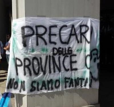 Striscione precari province_p