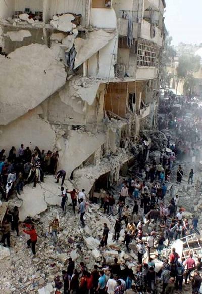 Macerie in Siria foto tratta da www_whitehelmets_org