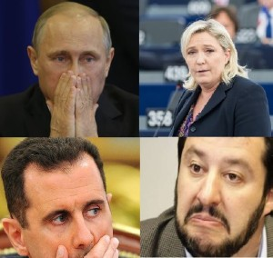 Putin Le Pen Assad Salvini