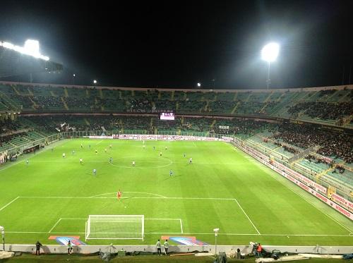 Stadio Barbera in Palermo-Frosinone  4-1. Foto di Gabriele Bonafede