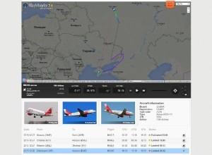 Volo civile russo sul Donbas in guerra