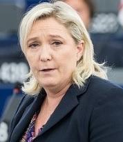 Marine le Pen preoccupata. Foto tratta da da www.theamericanconsrvative.com