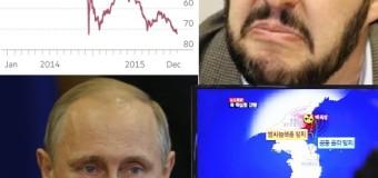 Tonfo petrolio. Rublo e Salvini a pezzi