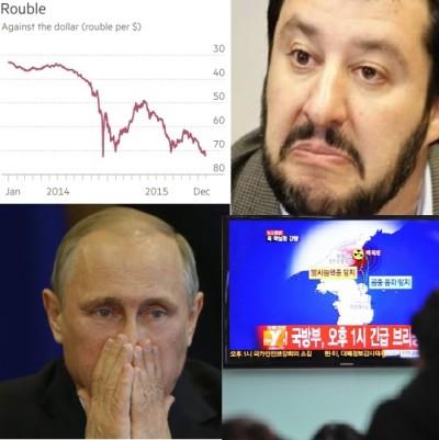 Crollo rublo Putin Salvini Corea