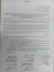 Lettera sindaci territorio di Gela