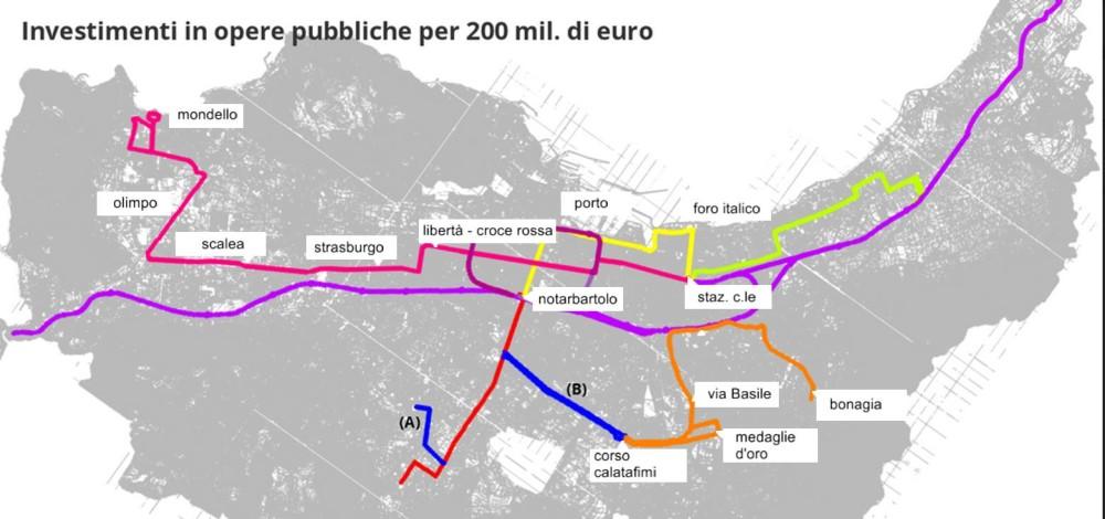 Il Tram a Palermo nei progetti per il futuro. Più che una brioche, una torta ai sette veli