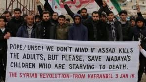 """""""Non ci interessa se Assad uccide gli adulti, ma almeno salvate i nostri bambini che muoiono di fame"""""""