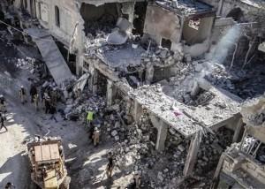Foto tratta dal rapporto di Amnesty International sulle vitti,me civili provocate dai raid russi in Siria. Il rapporto è della prima metà del dicembre 2015.