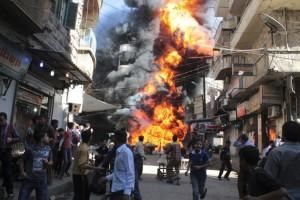 Bomba a grappolo di Assad in siria