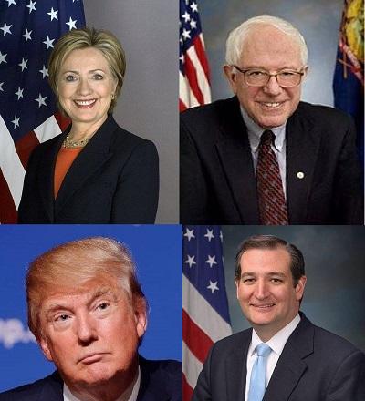 Primarie USA Clinton Sanders Trump Cruz_m