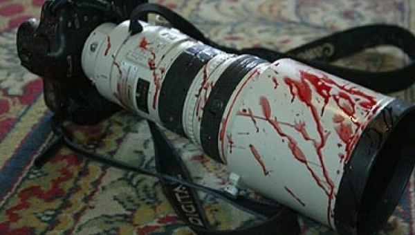 Camera of jounralist killed in Colombia