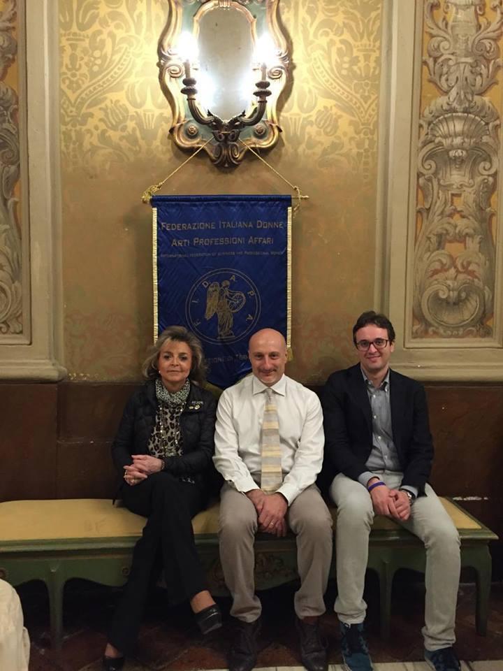 Ada Urbani presidente Fidapa Terni, il professore Borgani e Francesco Boria