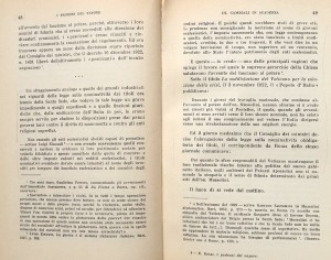"""Due pagine di """"I padroni del vapore"""" di Ernesto Rossi, Laterza, 1955"""