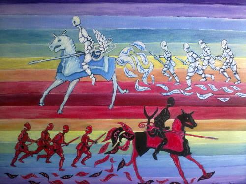 Guerra e Pace opera pittorica Rupat