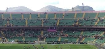Palermo-Samp 2-0, filmati da curva: gol e azione dubbia