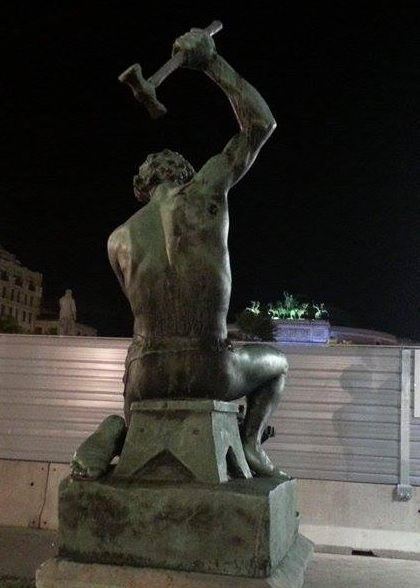 Piazza politeama statua e cantiere anello_2