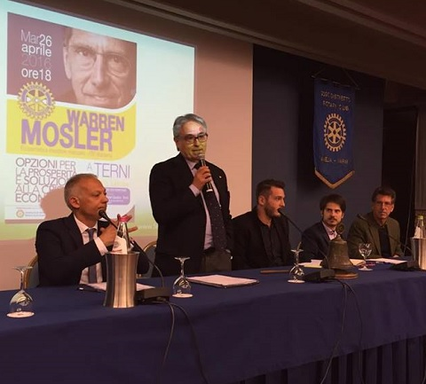 Warren Mosler convegno Rotary Terni Aprile 2016