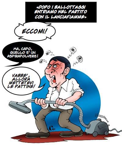 Renzi con Asporapolvere